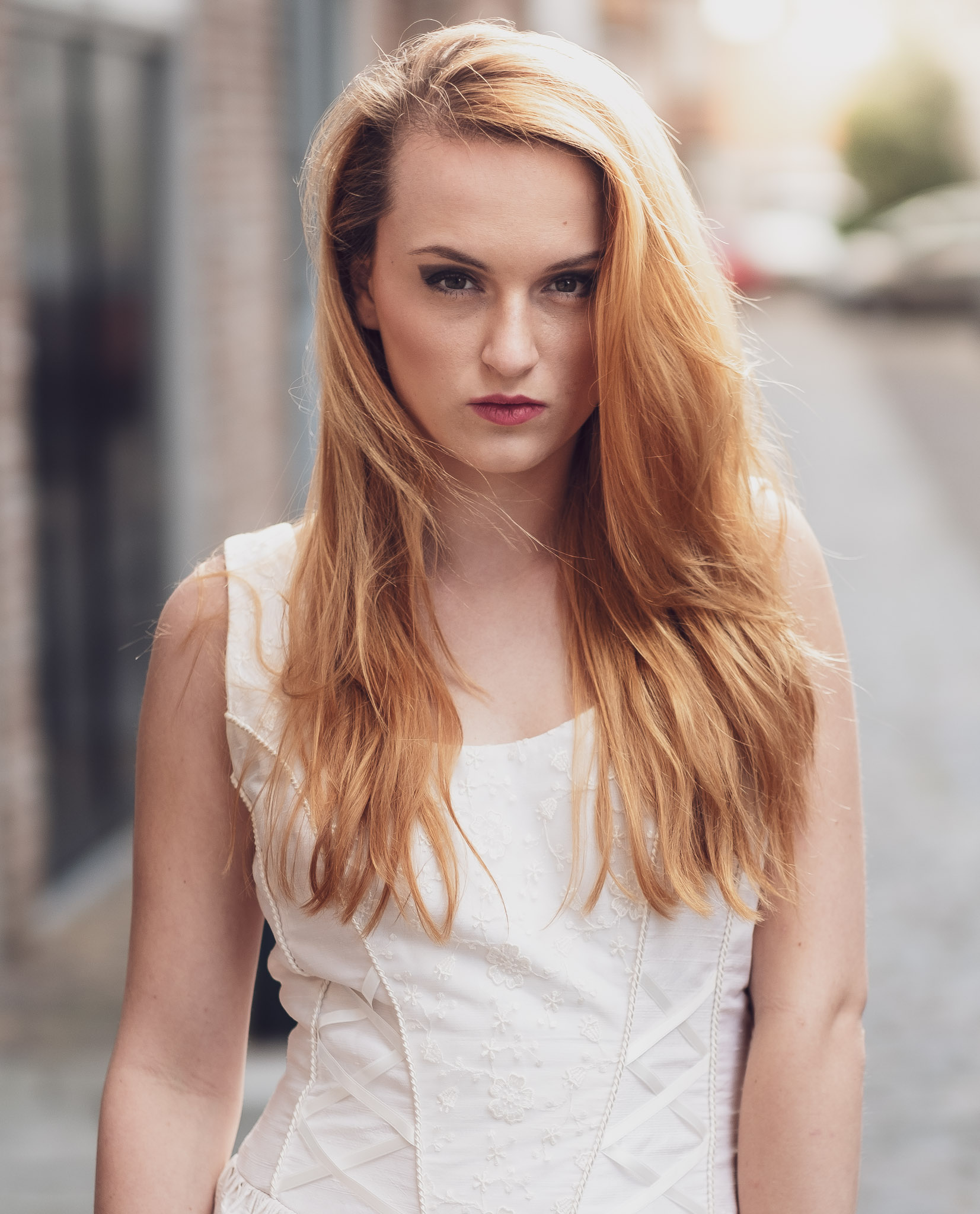 Redhead naakt model